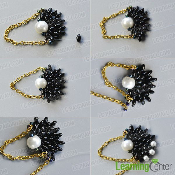 Add pearl bead to the bead pattern