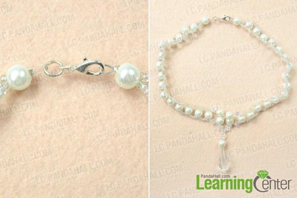finish making wedding choker necklace