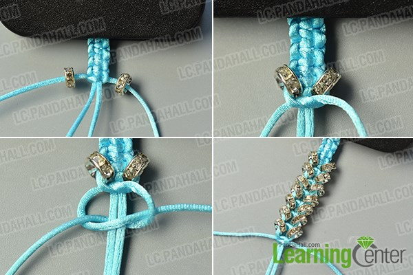 make the second part of the nylon thread braided bracelet