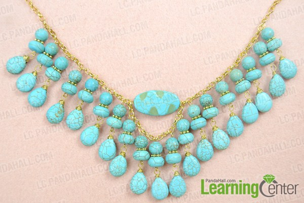 finish turquoise chain necklace