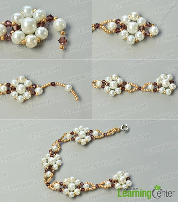 Make other more pearl beaded flower patterns