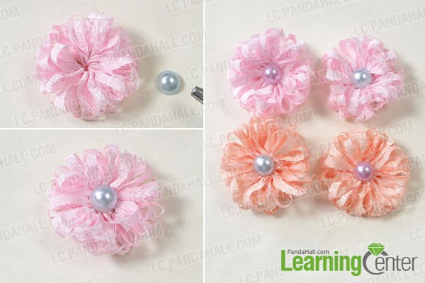 Easy Steps On How To Make Ribbon Flower Hair Clips Pandahall Com