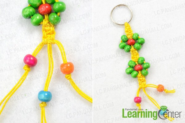 finish  how to make macrame keychain