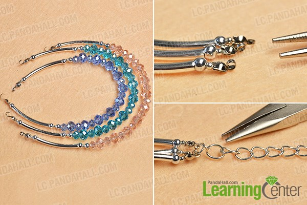 Complete the main pattern of the multi-strand bracelet