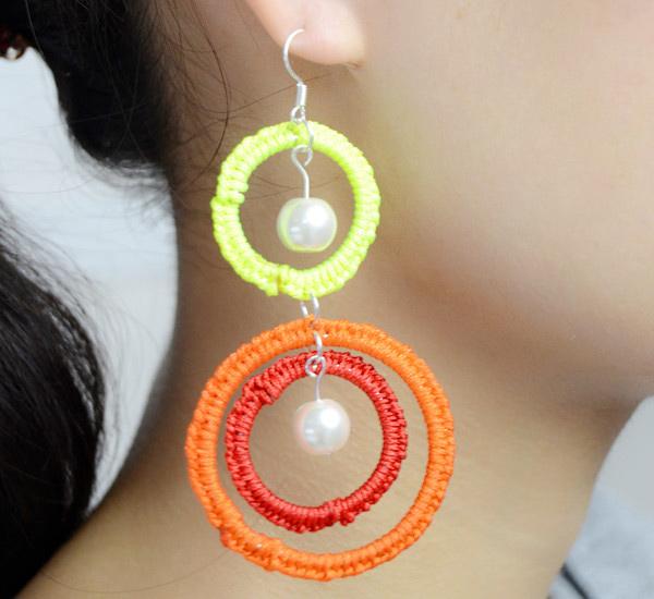 tatting earrings design