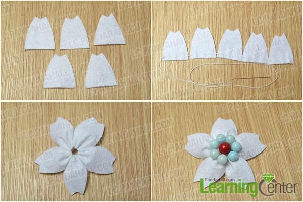 make a felt flower