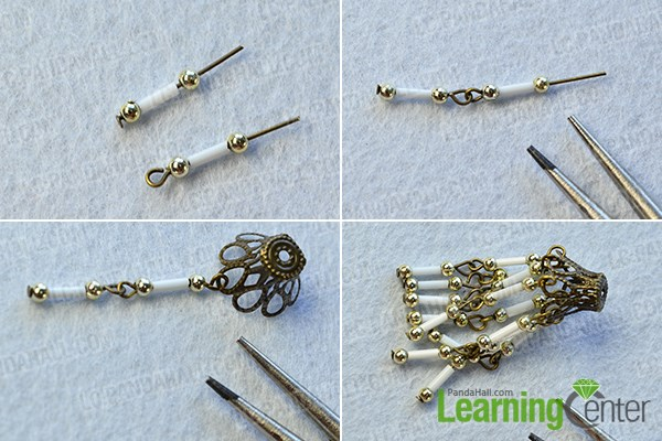 make the basic part of the vintage style earrings