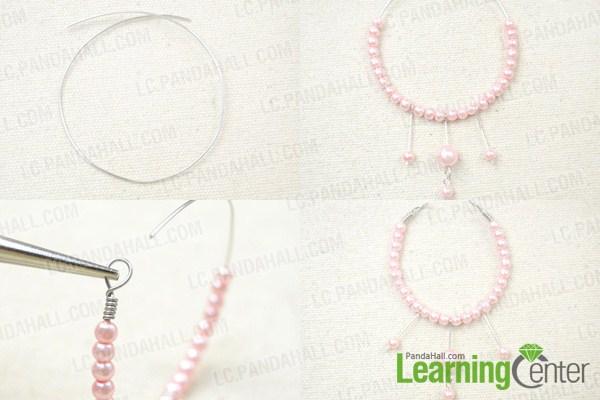 make wedding hoop earrings