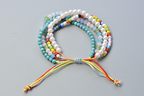 how to make multi strand stretch bracelets