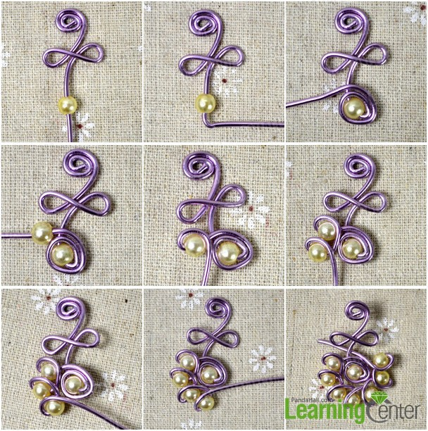 Wire Wrapped Design--How to Make Earrings with Pearl Beads and Wire ...