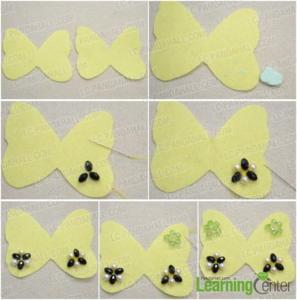 Step 1: Make the flowery pattern on butterfly wings