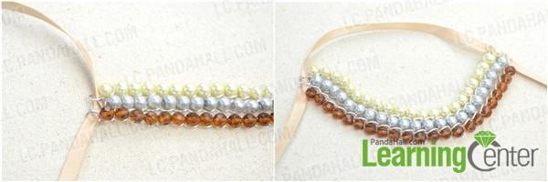 thread through the ribbon strap