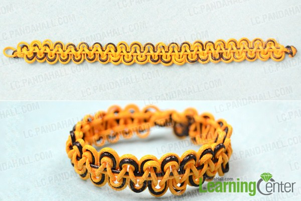 How To Make A Double Wave Friendship Bracelet With Wax Cord Interesting Double Wave Friendship Bracelet Pattern