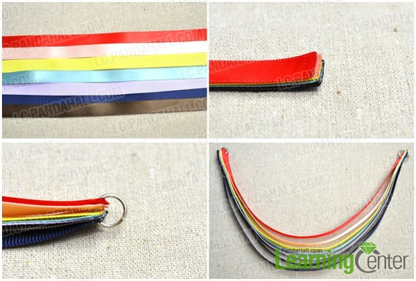 make a ribbon rainbow