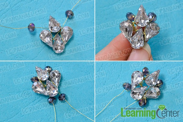 make the second part of the acrylic bead drop earrings