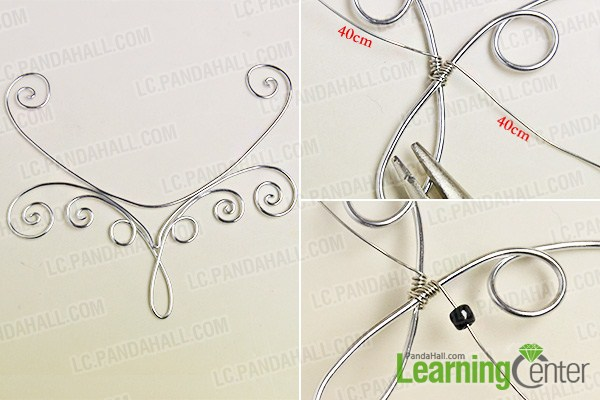 make the first part of the silver wire wrapped necklace