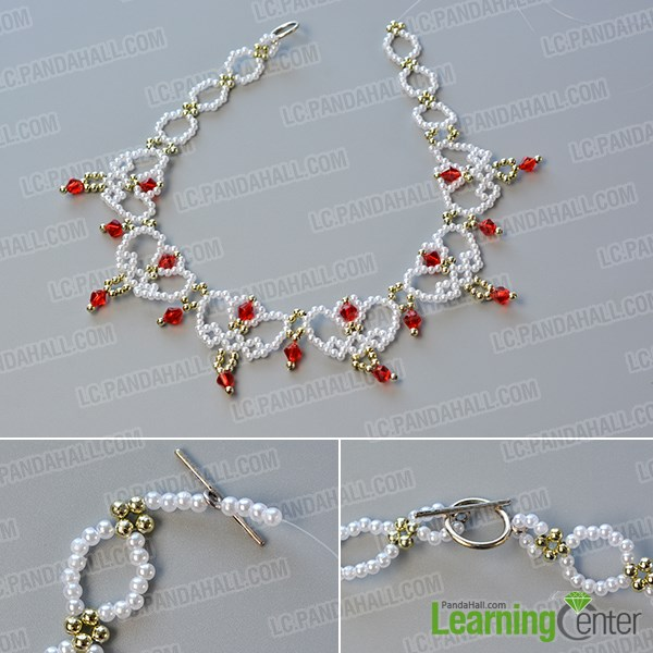 Complete the pearl bead choker necklace