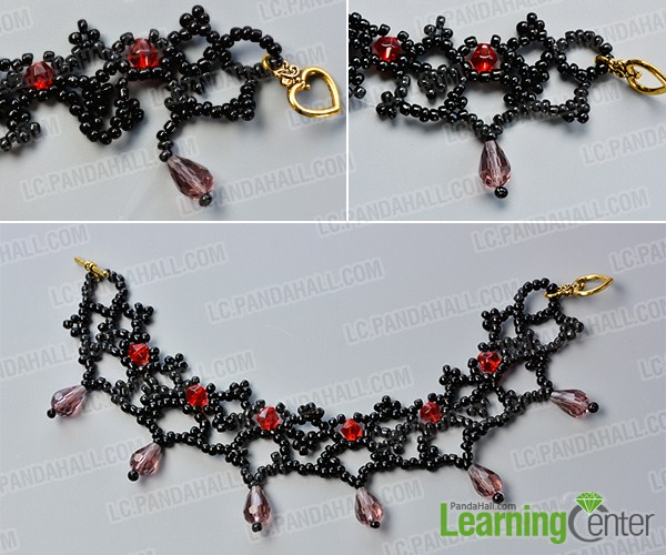 make the rest part of the black seed bead bracelet