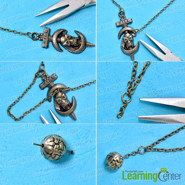 make the first part of the vintage necklace for men