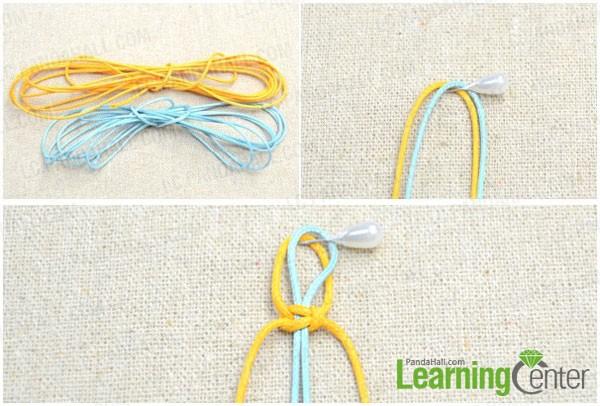 braid a closure loop of the friendship bracelet