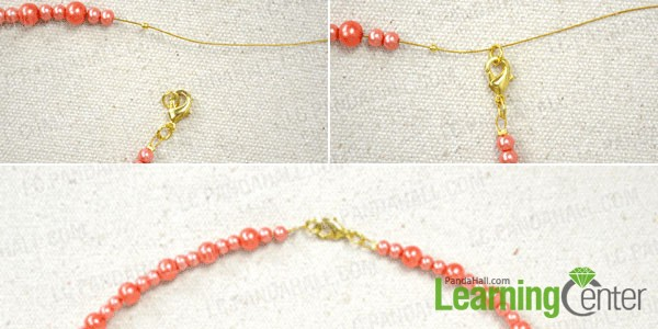 add lobster clasp for the beaded fringe necklace