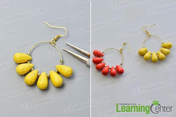 finish the simple hoop earrings