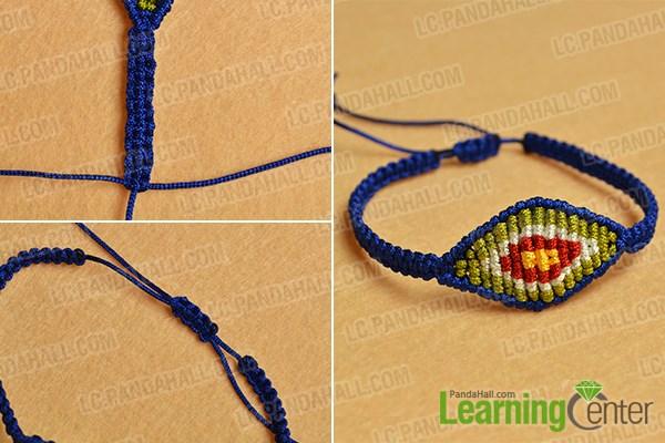 Finish the ethnic braided friendship bracelet