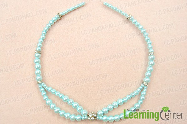 Make basic beaded collar necklace pattern
