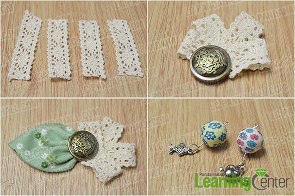 make a lace flower and two pendants
