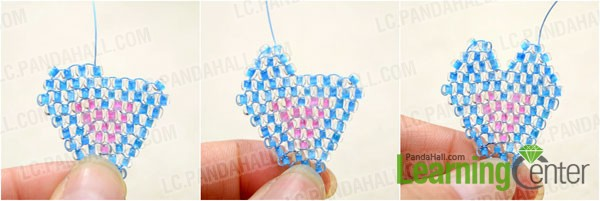 complete the brick stitch heart