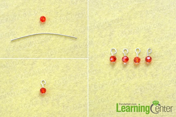 Make the dangles for the wire wrapped flower shaped earrings tutorial