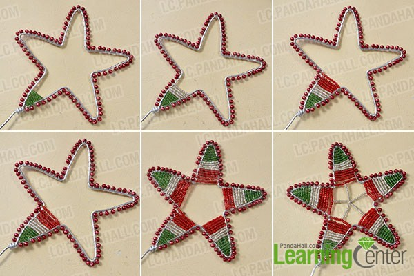add seed beads for the star magic wand