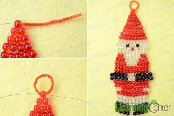Make a loop for Santa Claus Christmas ornaments
