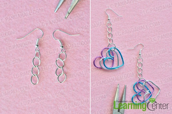make the rest part of the wire wrapped heart earrings