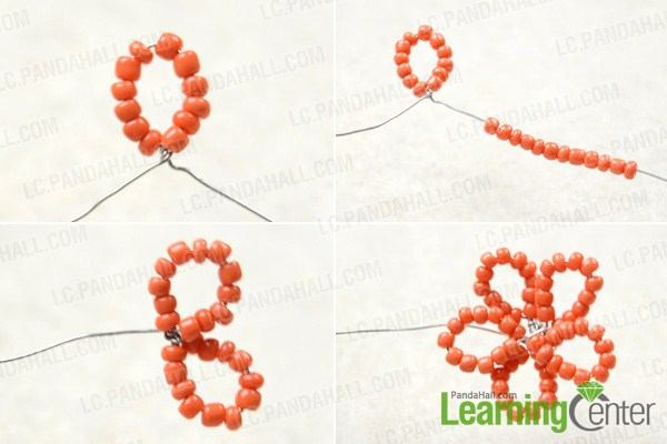 Instruction on how to make flower hair clip