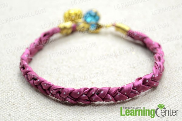 finished braided ribbon bracelet