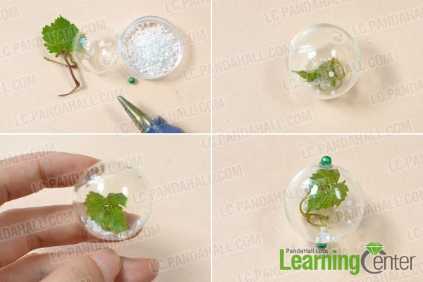 make the first part of the glass bead plant home décor crafts