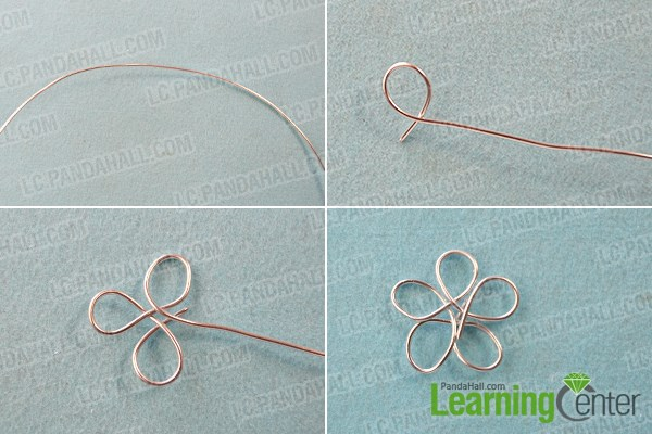 Wire Wrapped Flower Art Brooch Pin with Beads Tutorial 1