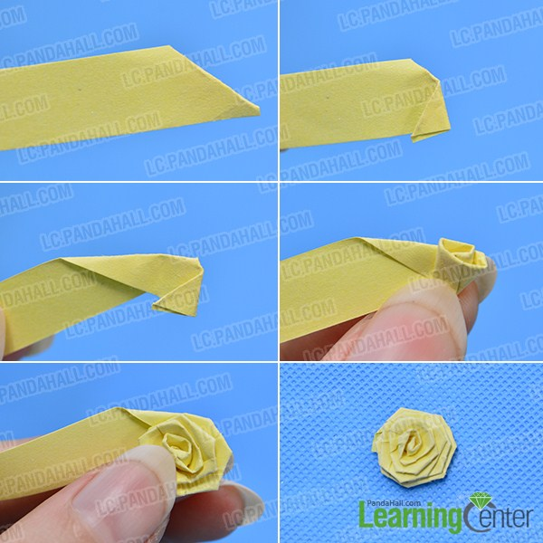 How to make a pair of orange quilling paper flower earrings make the second part of the orange quilling paper flower earring mightylinksfo