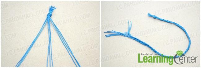 make the first 3-strand braid