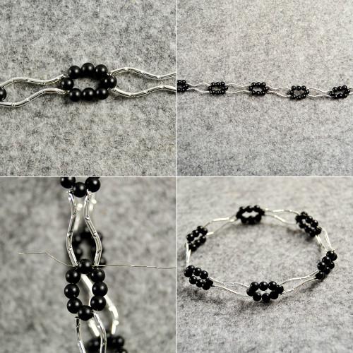 PandaHall Tutorial on Making a Tube Beads Bangle