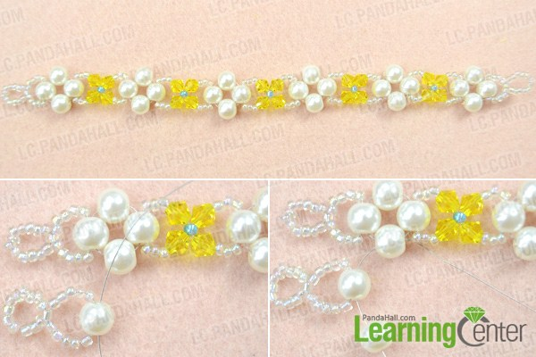 Make crystal pearl bracelet