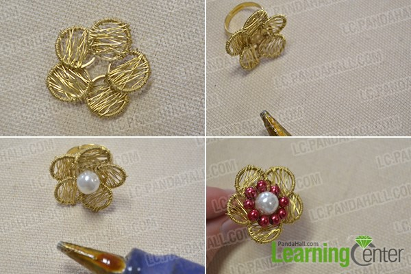 Make a flower and finish the ring