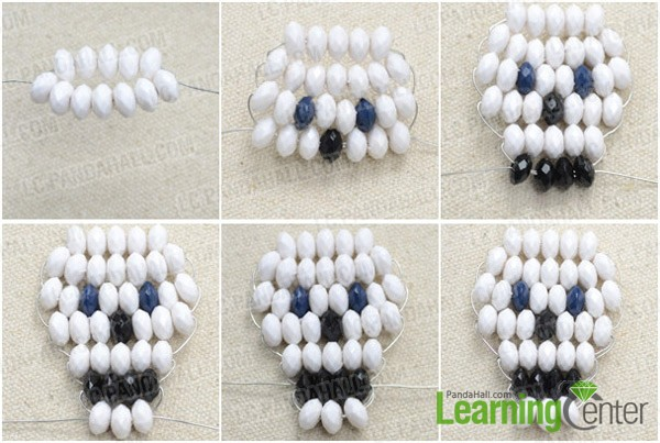Step 1: Bead skull pattern