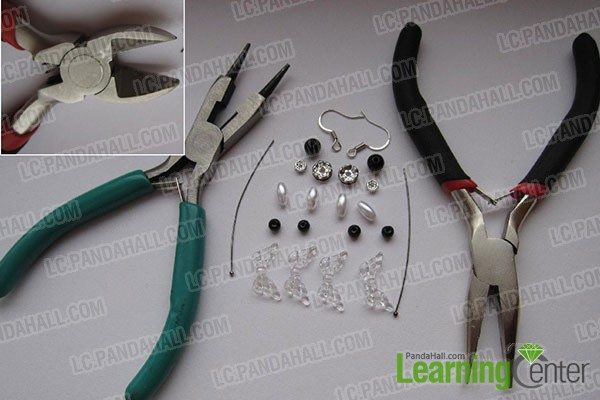 tools needed for making earrings with beads