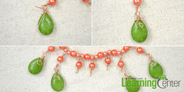 make drop beaded fringe for the necklace