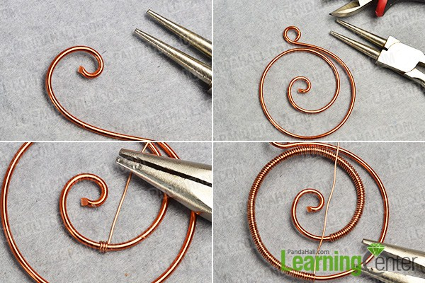 make the first part of the wire wrapped pendant necklace
