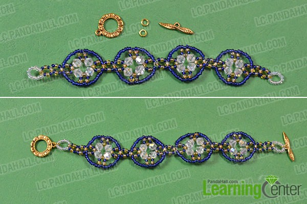 make the rest part of the blue seed beaded bracelet