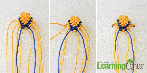 make the fifth part of the yellow woven fish ornament