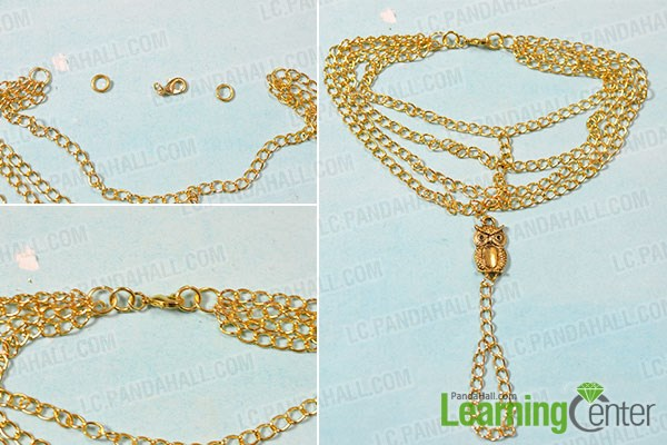 Finish the muti gold chain anklet